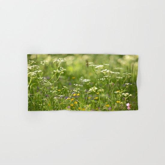 Green Summer Meadow  Hand & Bath Towel