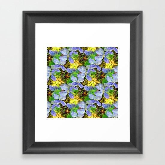 Floral Cascade Framed Art Print