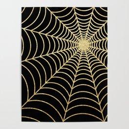 Spiderweb | Gold Glitter Poster