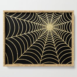 Spiderweb | Gold Glitter Serving Tray