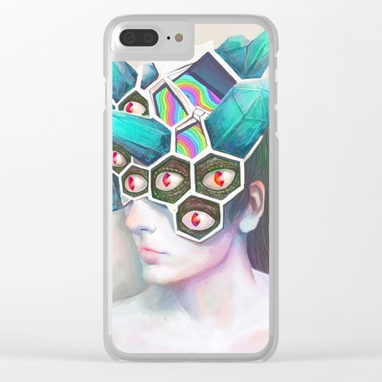 Crystal Head Clear iPhone Case