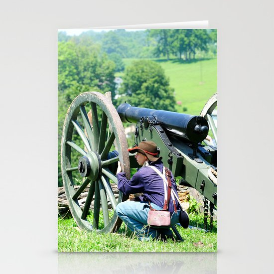 Civil War era canon fire Stationery Cards