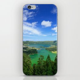 Lakes in Azores iPhone Skin