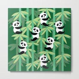 Panda's society Metal Print