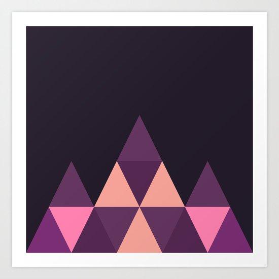 Geometric Pyramid Art Print