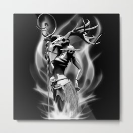The necromancer(gray scale) Metal Print
