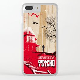 Psycho movie art print Clear iPhone Case