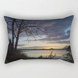 Lake Quinault Sunset, Washington Rectangular Pillow