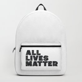 ALLIVES MATTER - Typo - 3D Backpack