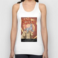 blade runner Tank Tops featuring Blade Runner   by Joe Badon