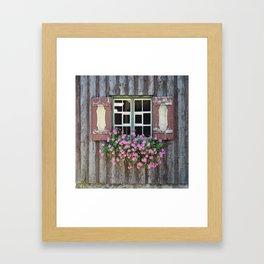Good Morning Geraniums! Framed Art Print