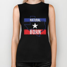 TX Texas Native Gift for Home State Pride Residents from Dallas, Austin, Houston Biker Tank