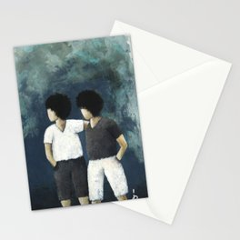 2 Little boys Stationery Cards