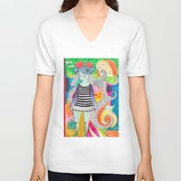 rubyetc V-neck T-shirts featuring burst by rubyetc