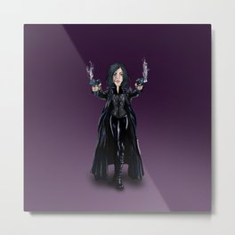 Selene, Vampire Death Dealer Metal Print