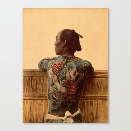 Tattooed Samurai Canvas Print