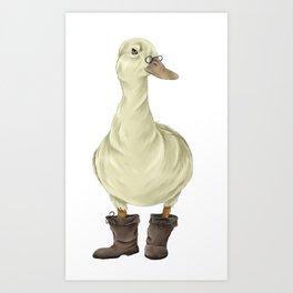 duck in boots  Art Print