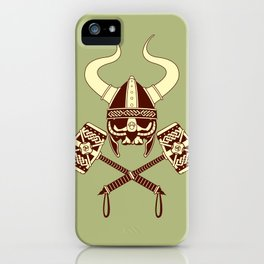 Viking skull v2 iPhone Case