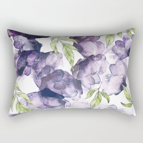 Watercolor + Ink Florals #society6 #decor #buyart Rectangular Pillow