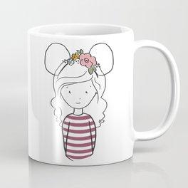 Floral Ears and Stripes Coffee Mug