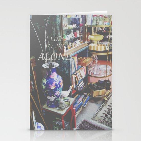 I Like to Be Alone Stationery Cards