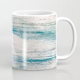 Sea Foam Blue Acrylic Textured Painting Coffee Mug
