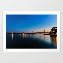 Eriksberg Bridge Art Print