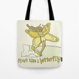 float like a butterfly // retro surf art by surfy birdy Tote Bag