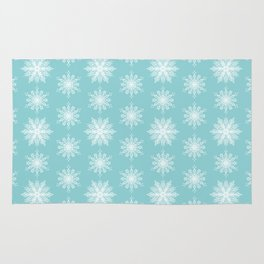 Frosty Snowflakes Rug