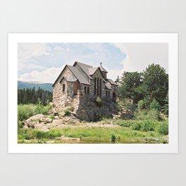 "Saint Catherine of Siena Chapel ""Chapel on the Rock"" (35mm Film)  Art Print"
