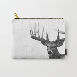 The Majestic Trophy Buck - Deer Graphite Pencil Drawing - by Julio Lucas Carry-All Pouch