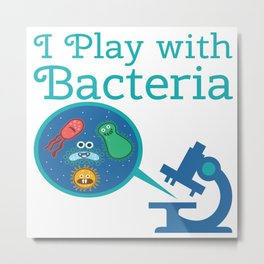 Funny Biology Meme Teacher Student Microskop Gift Metal Print