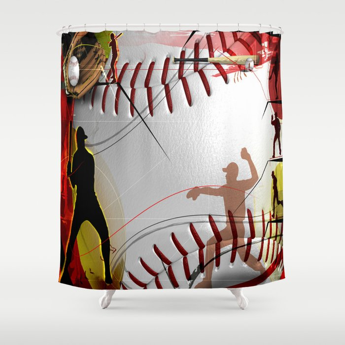 Baseball Shower Curtain By Robincurtiss