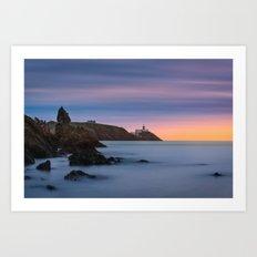 Howth lighthouse - Ireland (RR200) Art Print