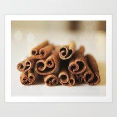 Cinnamon Sticks Bokeh Art Print
