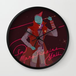 #1 Space Dad Wall Clock