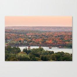 Sunset on the Saint John Canvas Print