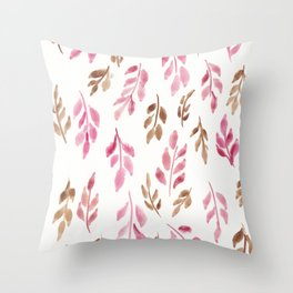180726 Abstract Leaves Botanical 20 |Botanical Illustrations Throw Pillow