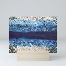 Open water, wild ocean, Underwater Mini Art Print