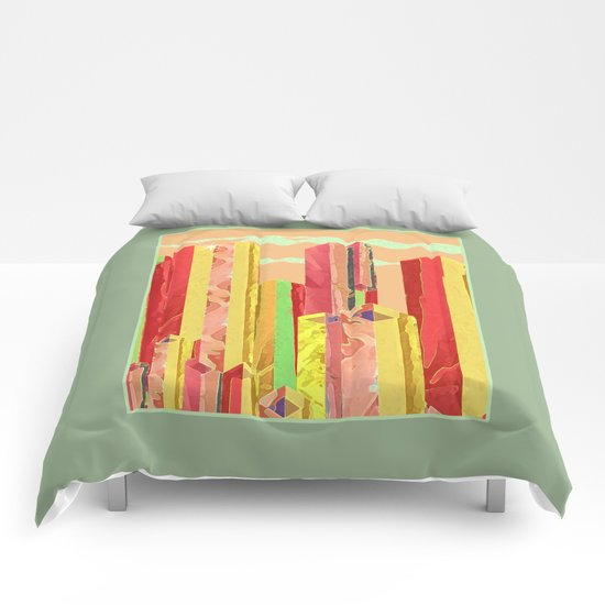 Uptown Downtown Summer Eve Comforters