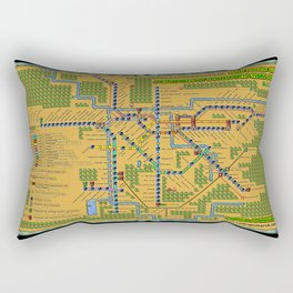 São Paulo City Metropolitan Transportation Map  Rectangular Pillow