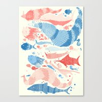 under the sea Canvas Prints featuring Under the sea by Matt Saunders