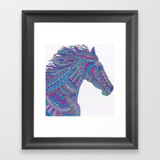 Technicolor Horse Framed Art Print