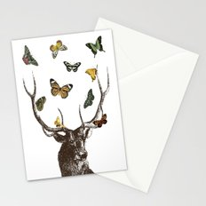 The Stag and Butterflies Stationery Cards