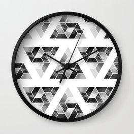 Tessellate Triangle Mountain Wall Clock