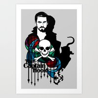 captain hook Art Prints featuring Shadows The Captain Hook by Mad42Sam