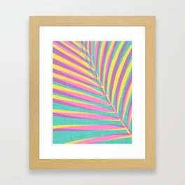 Bright Tropical Palm Framed Art Print
