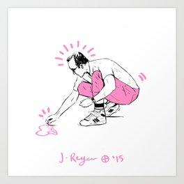 KEITH - Pink  Art Print