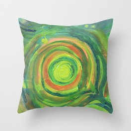 Heart Center Throw Pillow