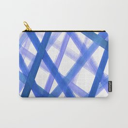 Criss Cross Blue Carry-All Pouch